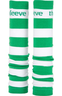 Med Sleeve Kelly Green and White Stripes