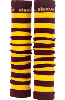 Med Sleeve Maroon and Gold Stripes