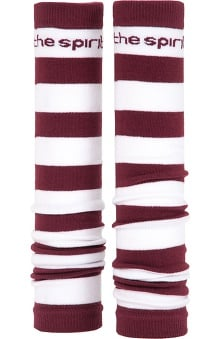 Med Sleeve Maroon and White Stripes