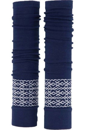 Med Sleeve Women's Navy Fair Isle