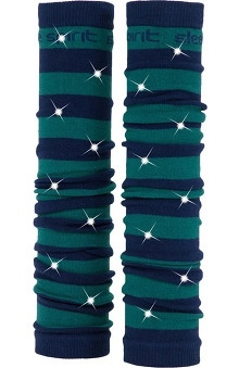 Med Sleeve Navy and Forest Green Stripes with Bling