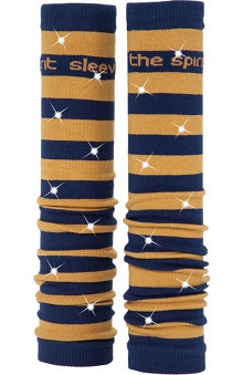 Med Sleeve Navy and Old Gold Stripes with Bling