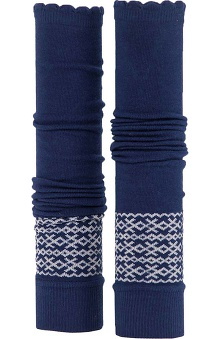 Med Sleeve Navy Fair Isle with Ruffle