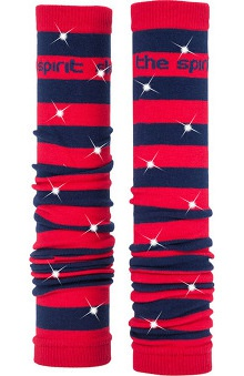 Med Sleeve Red and Navy Stripes with Bling