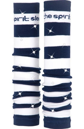Med Sleeve Women's Navy and White Stripes with Bling