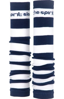 Med Sleeve Navy and White Stripes