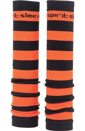 Med Sleeve Women's Orange and Black Stripes