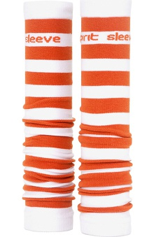 Med Sleeve Orange and White Stripes