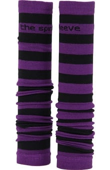 Med Sleeve Purple and Black Stripes