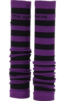 Med Sleeve Women's Purple and Black Stripes