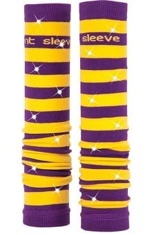 Med Sleeve Purple and Gold Stripes with Bling