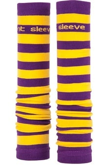 Med Sleeve Purple and Gold Stripes