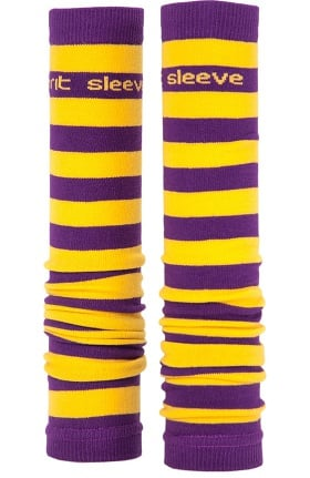 Med Sleeve Women's Purple and Gold Stripes