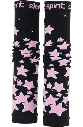 Med Sleeve Women's Black with Pink Stars with Bling