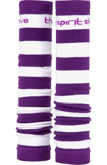 Med Sleeve Purple and White Stripes