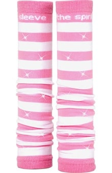 Med Sleeve Pink and White Stripes with Bling