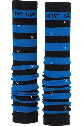 Med Sleeve Women's Black and Royal Stripes with Bling