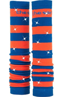 Med Sleeve Royal and Orange Stripes with Bling