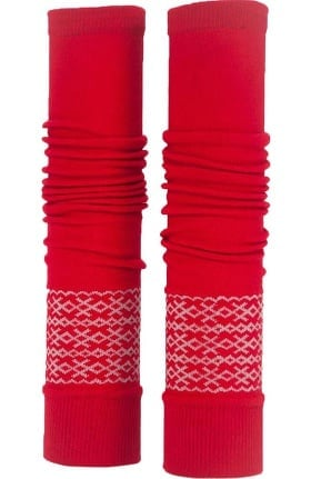 Med Sleeve Women's Red Fair Isle