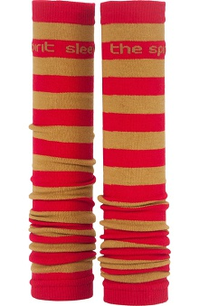 Med Sleeve Red and Old Gold Stripes