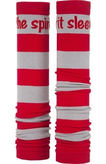 Med Sleeve Red and Grey Stripes