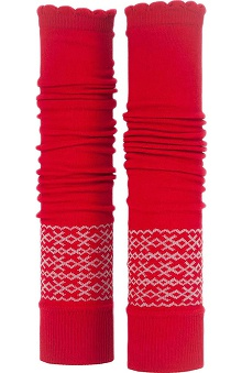 Med Sleeve Red Fair Isle with Ruffle