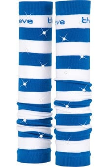Med Sleeve Royal and White Stripes with Bling