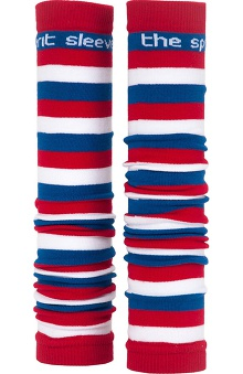 Med Sleeve Red, White, and Blue Stripes