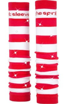 Med Sleeve Red and White Stripes with Bling