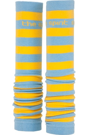 Clearance Med Sleeve Sky and Gold Stripes