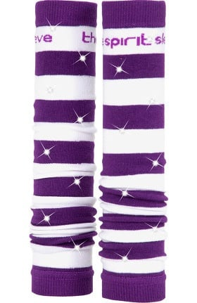 Med Sleeve White and Purple Stripes with Bling