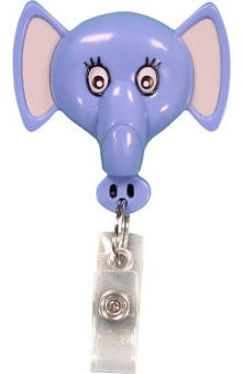 Retractamals: Pedia Pals Elephant Retractamals Retractable ID Badge Holder