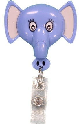 Pedia Pals Elephant Retractamals Retractable ID Badge Holder
