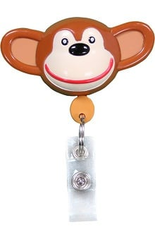 Retractamals: Pedia Pals Chimp Retractamals Retractable ID Badge Holder