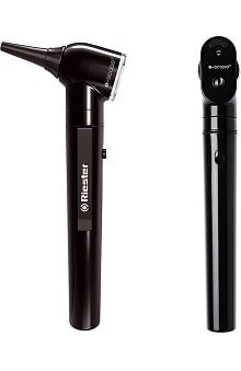 stethoscope ear buds: Riester e-Scope Otoscope / Ophthalmoscope Set