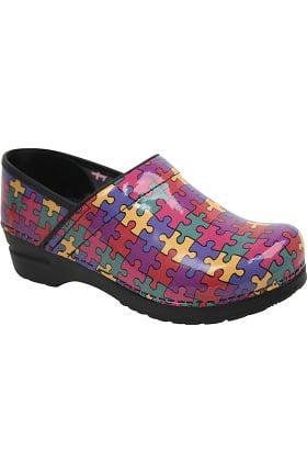 Clearance Original by Sanita Women's Professional Aspire Autism Awareness Patent Shoe
