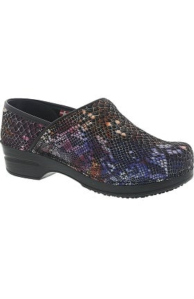 Clearance Smart Step by Sanita Women's Susan Printed Patent Professional Clog