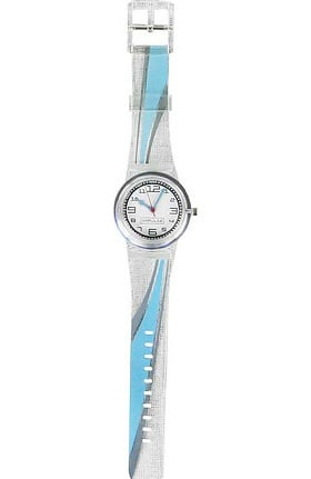 Think Medical Womens Blue Swoosh Watch