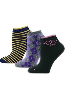 Think Medical Womens 3Pk Heart Cross Sock