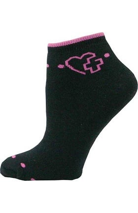 Think Medical Womens Heart Cross Sock