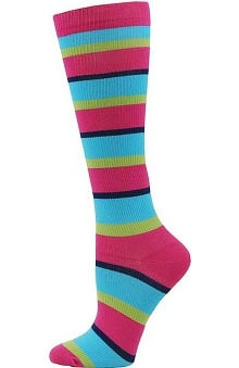 Awareness by Think Medical Womens Striped Compression Sock