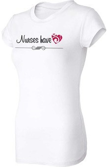 Think Medical Womens Nurses Have Heart T-Shirt