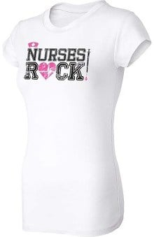 Think Medical Womens Nurses Rock T-Shirt