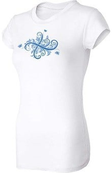 Think Medical Womens Butterfly Scroll T-Shirt