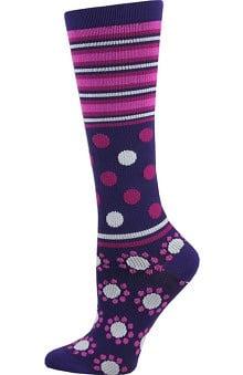 Think Medical Women's Dot Print 10-14 mmHg Compression Sock