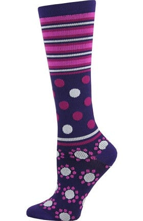 Think Medical Women's Dot Print 10-14 mmHg Compression Sock