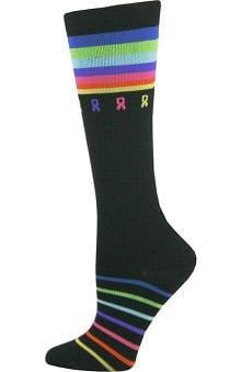 Think Medical Women's Cancer Awareness Print 10-14 mmHg Compression Sock