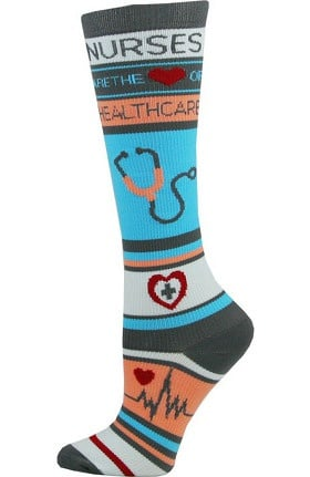 Think Medical Women's Nurse Print 10-14 mmHg Compression Sock