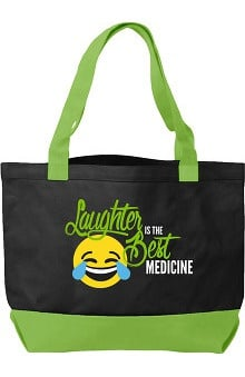 Think Medical Canvas Laughter Emoji Tote