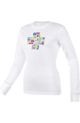 Think Medical Women's Medical Collage Print Underscrub T-Shirt